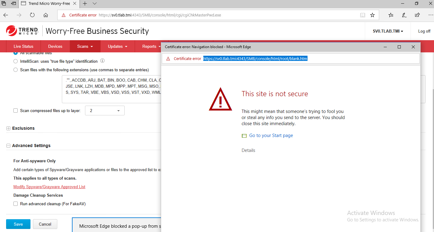 Not Secure