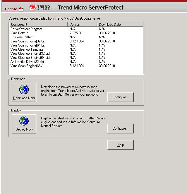 Trend Micro ServerProtect components