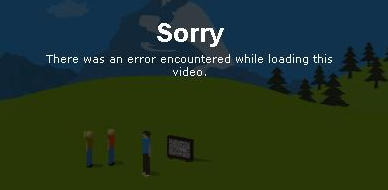 Vimeo: error while loading video