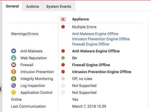 DSA NSX Environment errors