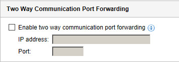 Two Way Communication Port Forwarding