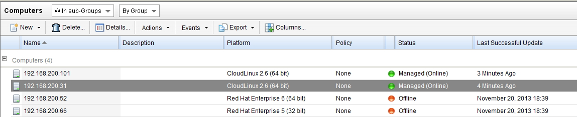 wrong CloudLinux version in DSM
