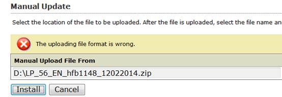 Uploading file format is wrong