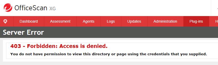 403 Server error