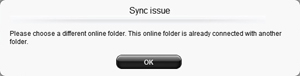 Sync error