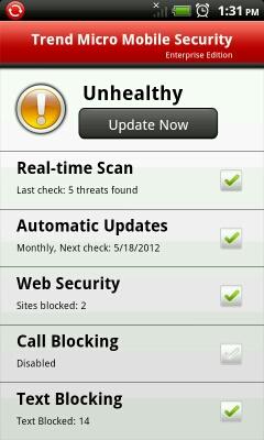 TMMS status: Unhealthy