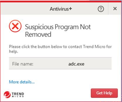 Suspicious Program Not Removed