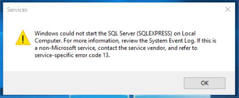 SQL Service Error