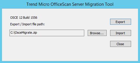 OSCE Server Migration Tool