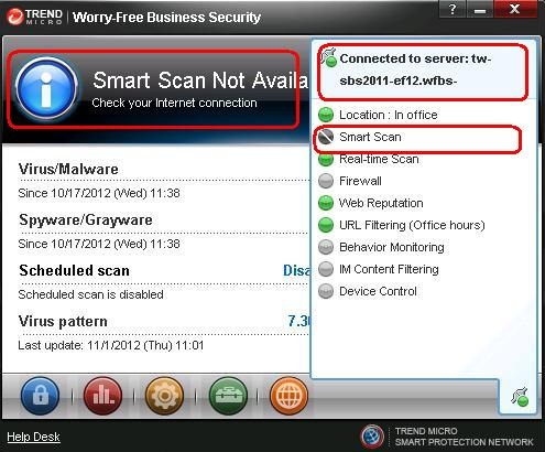 Smart Scan Not Available