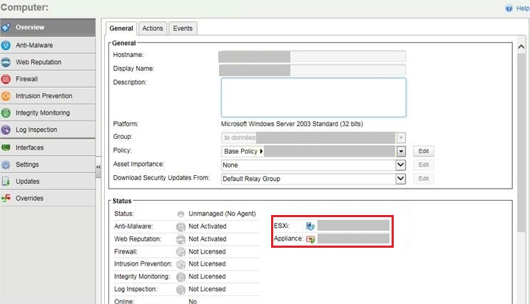 Deep Security Manager (DSM) shows no agent detected