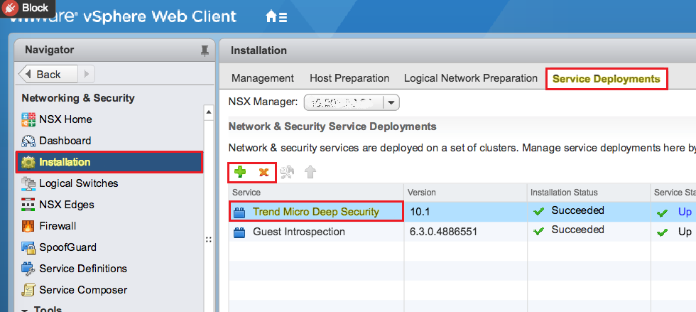 Trend Micro Deep Security service deployment