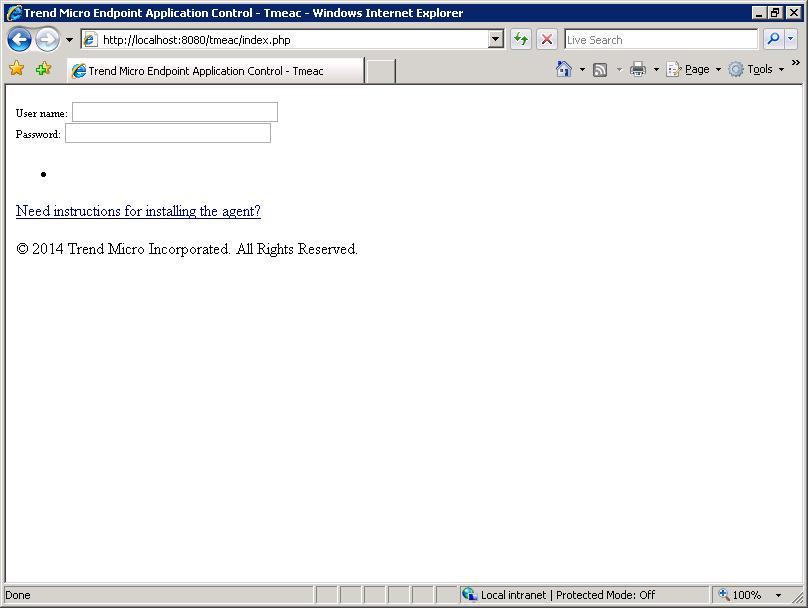 EAC web console error