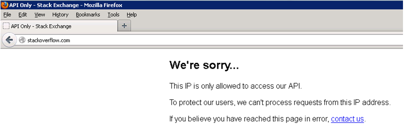 We're sorry...This IP is only allowed to access our API.