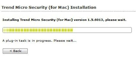 Trend Micro Security for Macintosh installation hangs