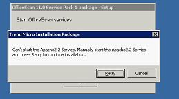 Can't start the Apache 2.2 Service
