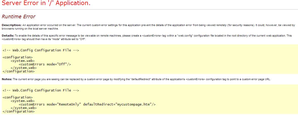 Server Error in '/' Application