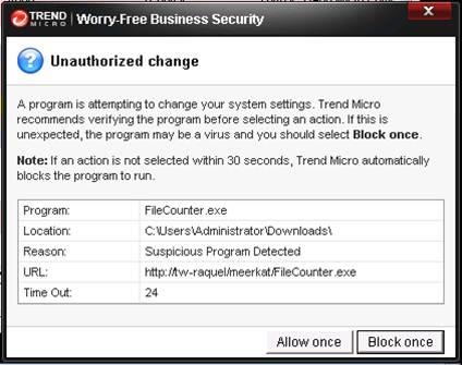 Meerkat blocking pop-up message