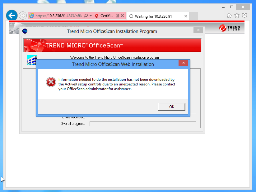 Trend Micro OfficeScan Web Installation