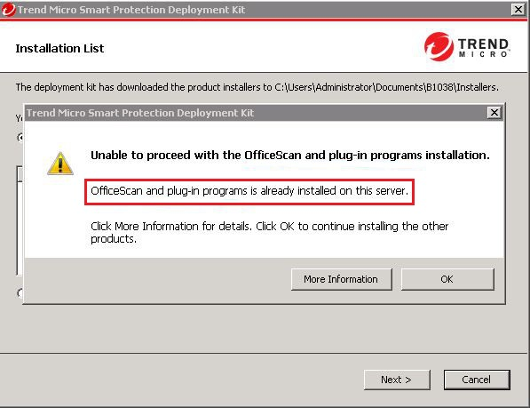Incorrect detected product name in error message