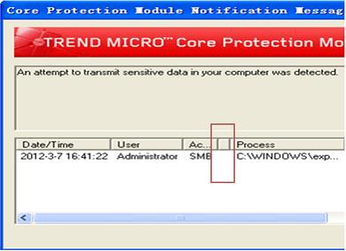 CPM Violation Message