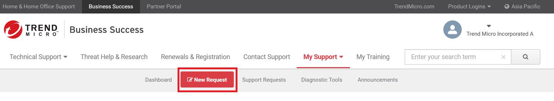 Click New Request