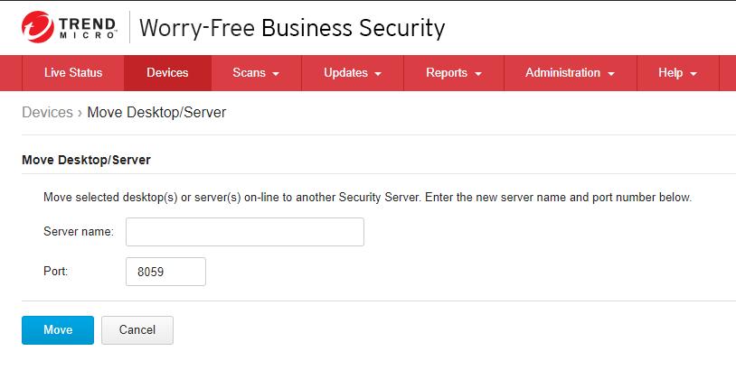 Move Desktop Server