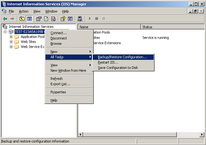 IIS Manager - All Tasks