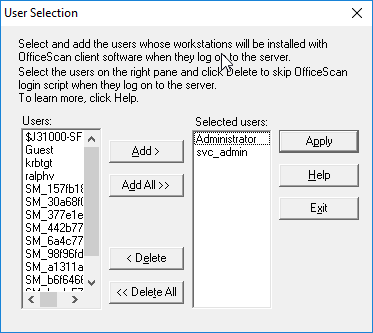 Login Script User Selection