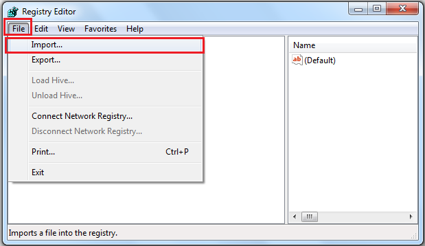 Click File > Import
