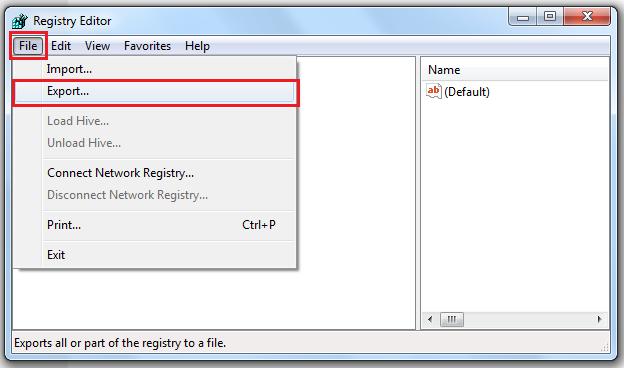 Click File > Export