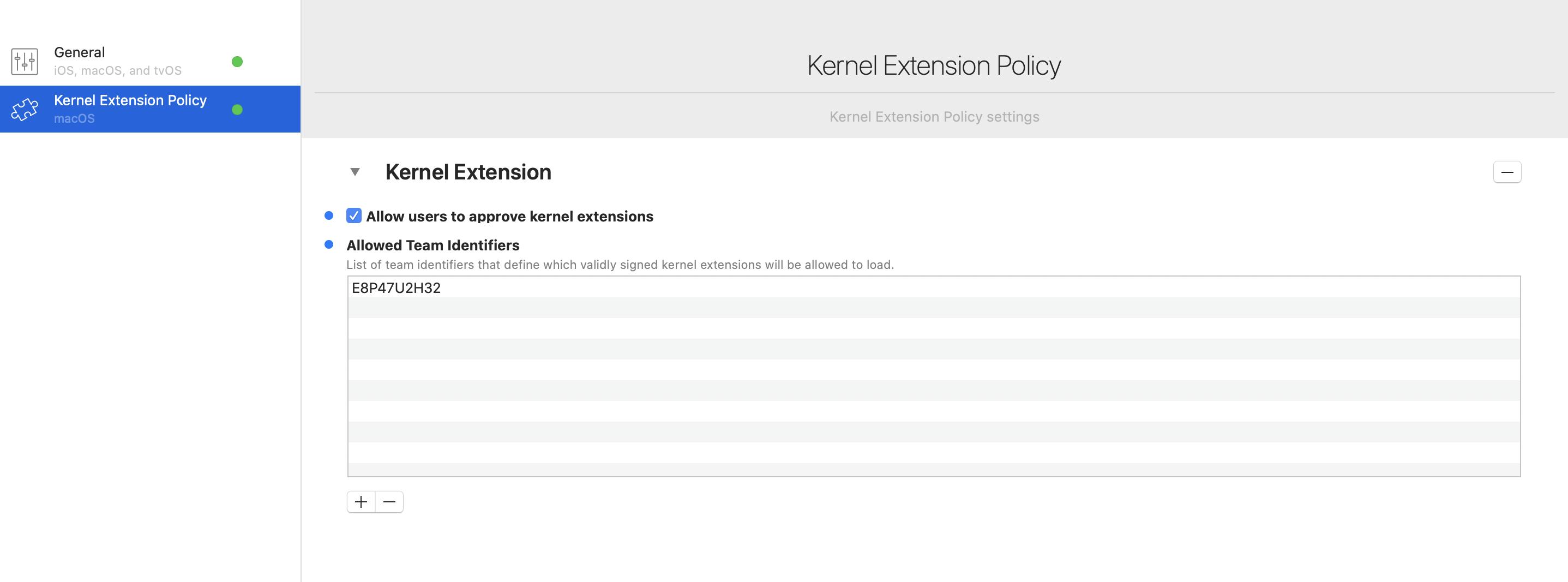 Kernel Extension