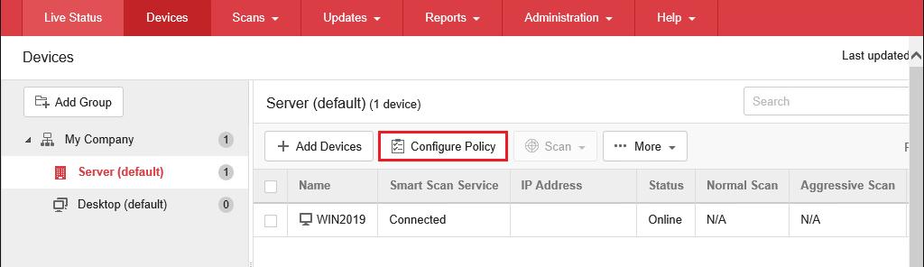 Configure Policy
