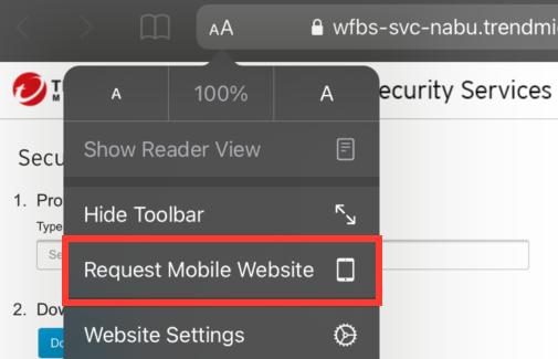 Request Mobile Website