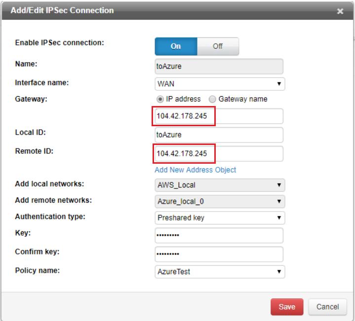 Add IPSec connection