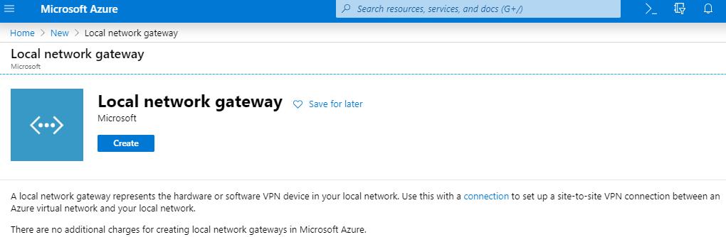 Local network gateway