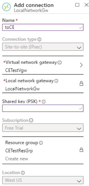 Configure new IPSec