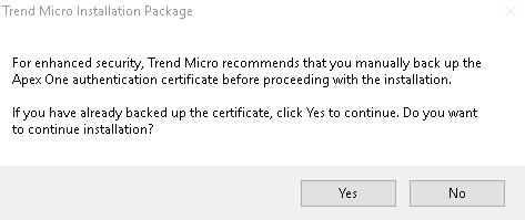 Trend Micro Installation Package