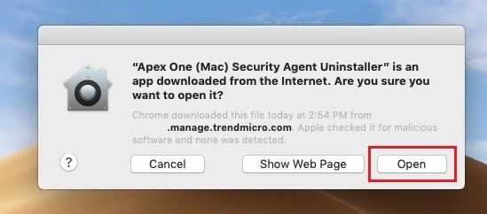 Display Name for Apex One (Mac) as a Service