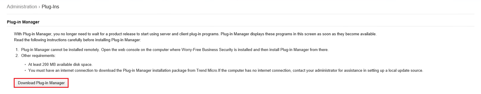 Download Plug-in Manager