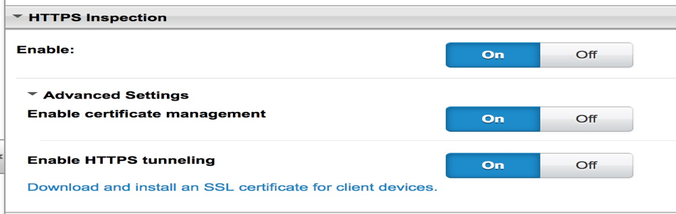 Enable certificate management