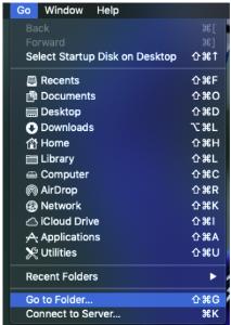 Go to Folder