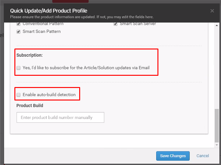subscription and enable auto detection