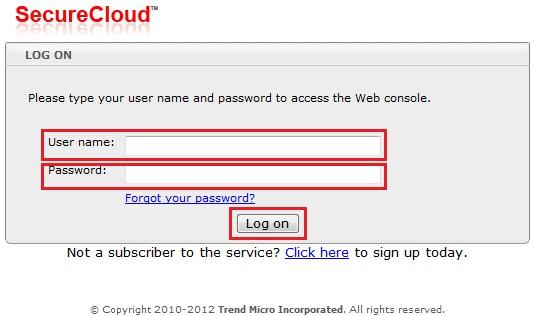 SecureCloud Web Console