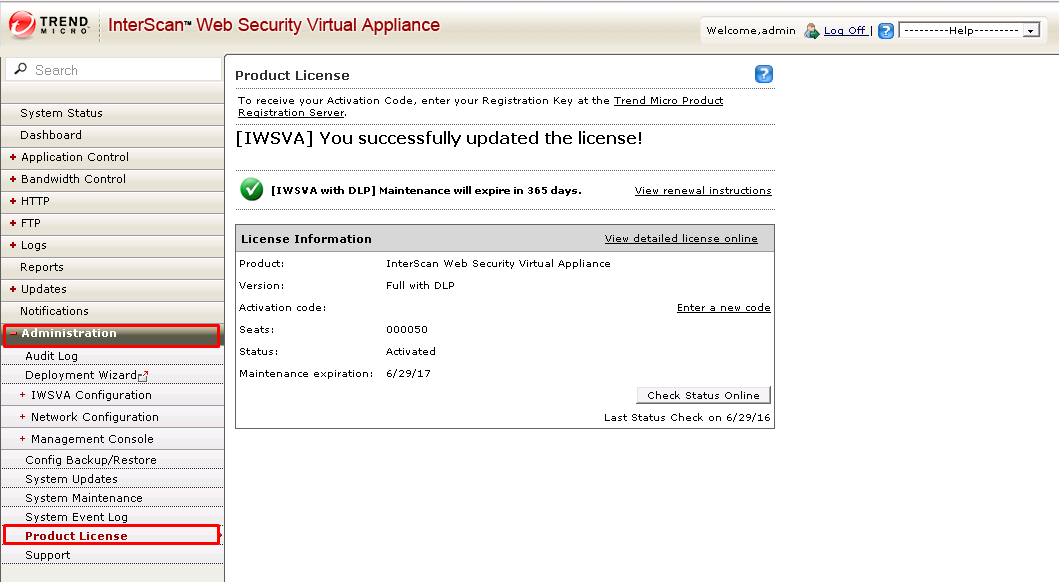 IWSVA Product license