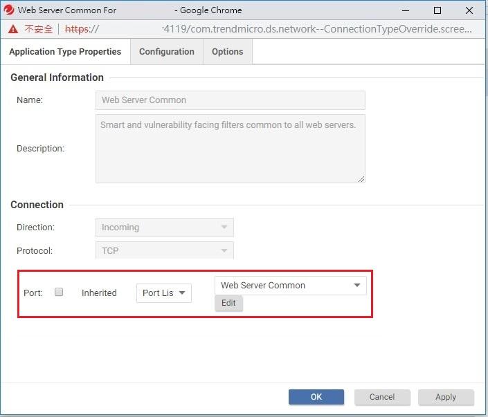 Web Server Common Port List