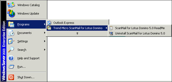 Uninstall ScanMail for Domino