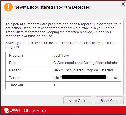 Enhanced detection pop out message