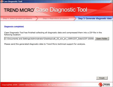 Diagnosis completed - Case Diagnostic Tool