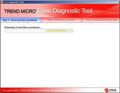 Detecting Trend Micro products - Case Diagnostic Tool